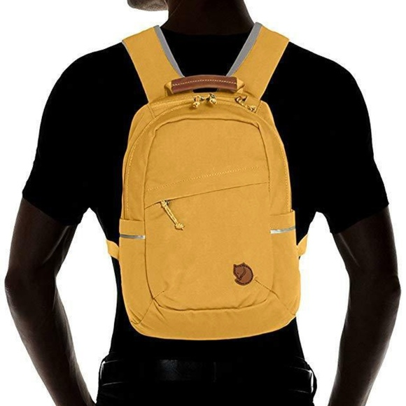 NWT Fjallraven Raven Mini Backpack in Ochre Yellow Boutique